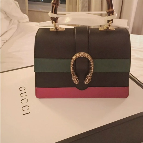 3a15525936ae Gucci Bags | Dionysus Leather Bamboo Top Handle Bag | Poshmark